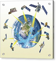 Gpm Satellite Constellation Acrylic Print by Nasa/goddard