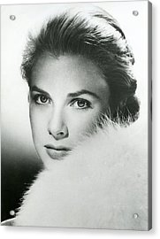 Grace Kelly Close Up Acrylic Print by Retro Images Archive