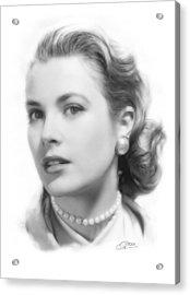 Grace Kelly Pencil Acrylic Print by Stefan Kuhn