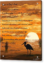 Grace With A Poem Acrylic Print by Amy Scholten