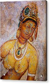 Graceful Apsara. Sigiriya Cave Painting Acrylic Print by Jenny Rainbow