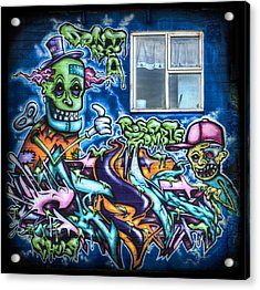 Graffiti City Acrylic Print by Evelina Kremsdorf