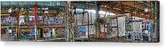 Graffiti Heaven Panorama Acrylic Print by David Birchall