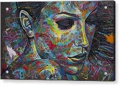 Grafitti Portrait Acrylic Print by Austin Whisnant