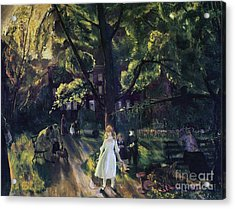 Gramercy Park Acrylic Print by George Wesley Bellows