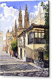 Granada Cathedral Acrylic Print by Margaret Merry