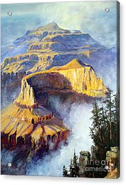 Grand Canyon View Acrylic Print by Lee Piper