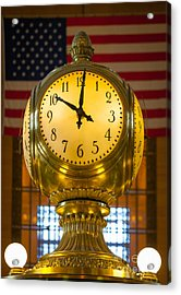 Grand Central Clock Acrylic Print by Inge Johnsson