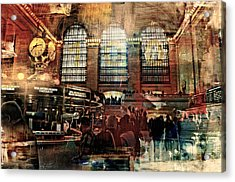 Grand Central Terminal 100 Years Acrylic Print by Diana Angstadt