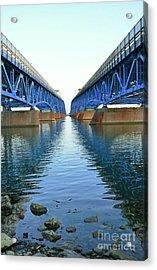 Grand Island Bridges Acrylic Print by Kathleen Struckle