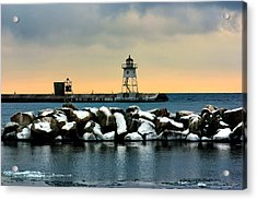 Grand Marais Lighthouse Acrylic Print by Amanda Stadther
