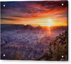 Grand Morning At The Canyon Acrylic Print by Andrew Soundarajan