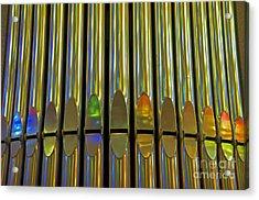 Grand Pipe Organ Reflections Acrylic Print by Cindy Lee Longhini