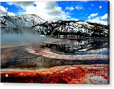 Grand Prismatic Hot Spring Acrylic Print by Birches Photography