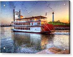Grand Romance Riverboat Acrylic Print by Heidi Smith