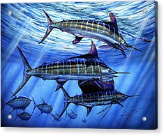 Grand Slam Lure And Tuna Acrylic Print by Terry Fox