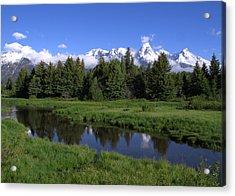 Grand Teton Reflection Acrylic Print by Brian Harig