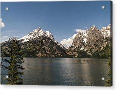 Grand Tetons On Jenny Lake 2 - Grand Teton National Park Wyoming Acrylic Print by Brian Harig