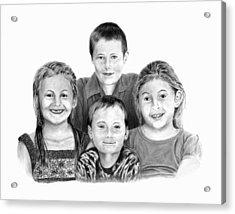 Grandchildren Portrait Acrylic Print by Peter Piatt