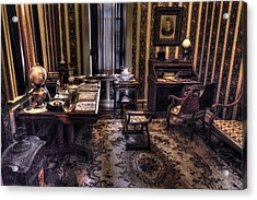 Grandfather's Office Acrylic Print by William Fields