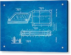Grandjean Etch A Sketch Patent Art 1962 Blueprint Acrylic Print by Ian Monk