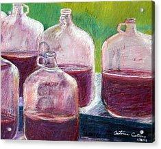 Grape Stomp Residuals Pastel Acrylic Print by Antonia Citrino