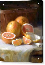 Grapefruit Acrylic Print by Robert Papp