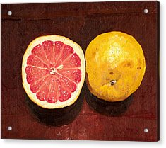 Grapefruits Oil Painting Acrylic Print by