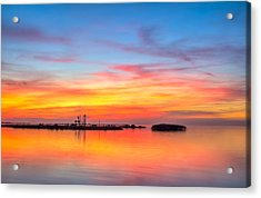 Grass Islands Of The Gulf Acrylic Print by Marvin Spates