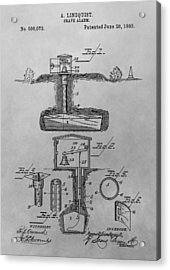 Grave Alarm Patent Drawing Acrylic Print by Dan Sproul