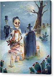 Grave Sight Acrylic Print by Heather Calderon