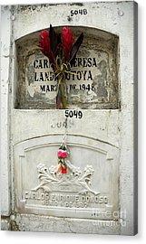 Graveyard At La Ciudad Blanca Acrylic Print by Sami Sarkis