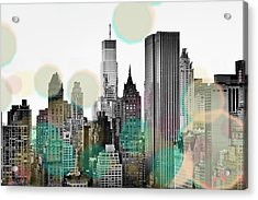 Gray City Beams Acrylic Print by Susan Bryant