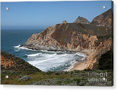 Gray Whale Cove State Beach Montara California 5d22618 Acrylic Print by Wingsdomain Art and Photography