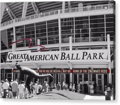 Great American Ball Park And The Cincinnati Reds Acrylic Print by Dan Sproul