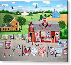 Great American Quilt Factory Acrylic Print by Wilfrido Limvalencia