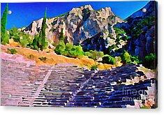 Greek Amphitheatre Acrylic Print by John Malone
