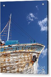 Greek Fishing Boat Acrylic Print by Stelios Kleanthous