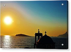 Greek Glow Acrylic Print by Catherine Davies