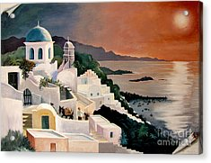 Greek Isles Acrylic Print by Marilyn Smith