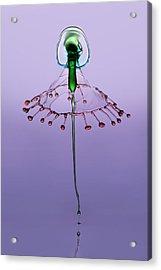 Green And Red Acrylic Print by Jaroslaw Blaminsky