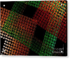 Green And Red Square  Acrylic Print by Mario  Perez