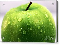 Green Apple Top Acrylic Print by John Rizzuto