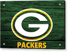 Green Bay Packers Barn Door Acrylic Print by Dan Sproul