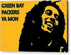 Green Bay Packers Ya Mon Acrylic Print by Joe Hamilton