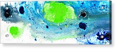 Green Blue Art - Making Waves - By Sharon Cummings Acrylic Print by Sharon Cummings