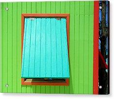 Green Cabin Acrylic Print by Randall Weidner