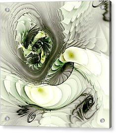 Green Dragon Acrylic Print by Anastasiya Malakhova