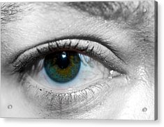 Green Eye Acrylic Print by Guinapora Graphics