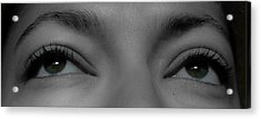 Green Eyes Acrylic Print by Guinapora Graphics
